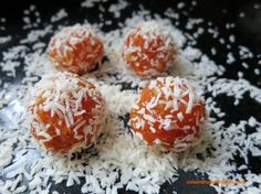 Cezerye; a sweet treat that's not too unhealthy! Caramelised carrot paste with chopped nuts and rolled in cocunut