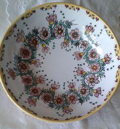 Ciotola /insalatiera/spaghettiera in ceramica.Dipinta a mano..Decoro Floris., by ilciliegio, 20,00 € su misshobby.com