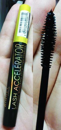 Lash Accelerator by Rimmel  <3 Top Ten Make-Up Products  This mascara is life! My lashes actually were longer after about a month and half of using this ! Buy at Wal-mart ,Zellers or local pharmacy