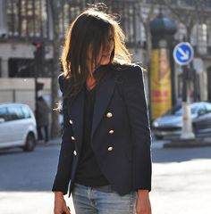 Love the Blazer/Jeans Look