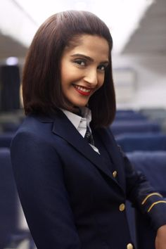 Sonam Kapoor as Neerja Bhanot. Here's the first look of the film produced by Fox Star Studios and Bling Unplugged.