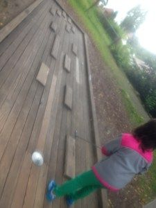 The Adventure Golfpark in Enzkloesterle is not quite an adventure, but the hand-crafted course is not as easy as it looks--and you're given 3 different balls to use on the appropriate holes.