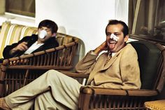 Jack Nicholson with director Roman Polanski on the set of their 1974 movie Chinatown