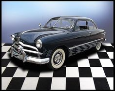 1949 Ford Custom Coupe 239 CI, 3-Speed. My Mom had one of these and loved it.