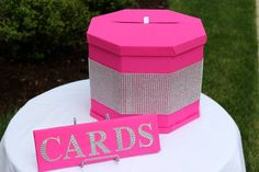 Bling Pink Card Box #heartfulcreations #locatedinnj #bridalshower #bridalparty #pinktheme #eatpinkandbemarried #bling #leopard #eventdesign #eventmanagement #partyplanning #bridetobe #futuremrs #bridalparty #inquirewithin #planyoureventtoday tayvinorozco87@gmail.com