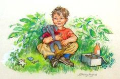 The Illustration Cupboard - Alfie Shirley Hughes