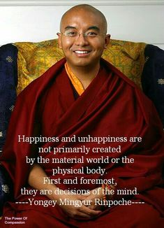 Yongey Mingyur Rinpoche  Takes daily practice and is a good habit to form ;-)