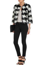MICHAEL Michael KorsHoundstooth faux fur coat