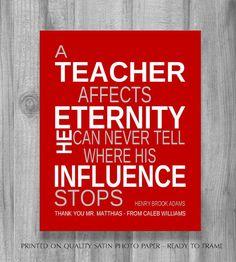 Personalized Teachers Gift Idea MALE TEACHER by PrintsbyChristine, $13.00