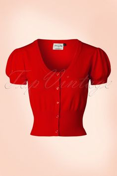 Dancing Days by Banned 40s Grace Cardigan in Red