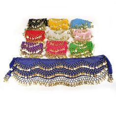 Opentip.com: BellyLady Wholesale Lots 10 Belly Dance Hip Scarves, Zumba Hip Scarf