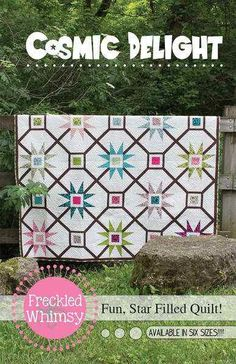 Cosmic Delight Quilt Pattern by Freckled Whimsy by SewModDesigns