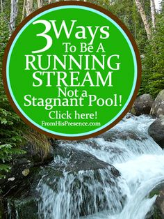 Would you rather flow with God or stagnate? Here are 3 practical ways to keep yourself feeling fresh and sharp mentally, emotionally, and spiritually!