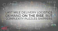 Last Mile Delivery Logistics Demand on the Rise But Still Puzzles Shippers Last Mile, Puzzles, Delivery, Organization, Gold, Shopping, Getting Organized, Organisation, Puzzle