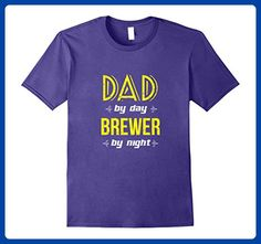 Mens Dad By Day Brewer By Night T-Shirt XL Purple - Relatives and family shirts (*Amazon Partner-Link)