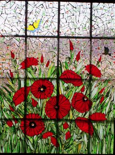 Poppy by #mosaics by marlene      #flowers