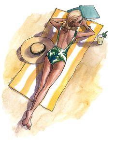 Sich bräunen ... Sommerzeit ... Strand ... Meer ... Entspannung
