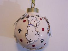 Disney 101 Dalmatians - Personalized Handmade Gift for Children Porcelain Tree Ornament Keepsake on Etsy, $30.00