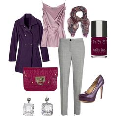 """""""Plum Wine"""" by heididelreal on Polyvore - Work Clothing"""