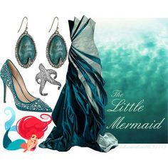 """Disney Princess: The Little Mermaid"" by awkwardturtle31415 on Polyvore"