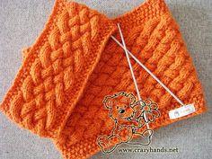 Wicker knitting set: cowl