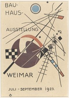 """Postcard for """"Bauhaus Exhibition Weimar July - September 1923""""  Vasily Kandinsky (French, born Russia. 1866-1944)    1923. Lithograph, 5 7/8 x 3 15/16"""" (15 x 10 cm). Gift of Penelope Seidler. © 2011 Artists Rights Society (ARS), New York / ADAGP, Paris  143.2010"""