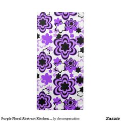 Purple Floral Abstract Kitchen Dining Table Party Napkin