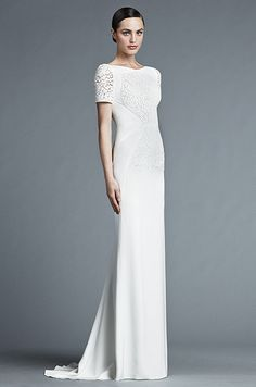 Elegant, stylish and modern wedding dress. J. Mendel, Spring 2015 #Wedding Dresses // Aisle Perfect