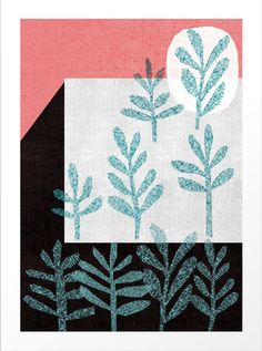New Artist in the Gallery The Printed Peanut! Beautiful Prints and Gift Wrap. Plants Print £25