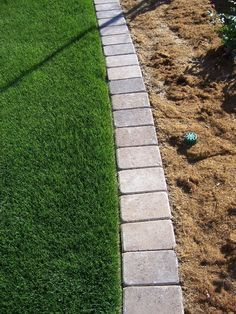 Paver Mow Strip for garden edging. So tired of having to rely on string trimmers. Would be nice for the front garden. Outdoor Gardens, Yard, Landscape Design, Front Yard Landscaping, Outdoor, Landscape Edging, Hardscape, Backyard Garden, Backyard
