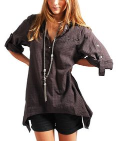 Charcoal Sidetail Tunic by miilla  #zulily #zulilyfinds