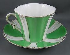 Art Deco Coffee Cup and Saucer