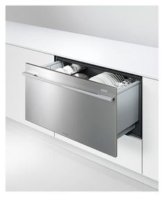 Fisher Pykel Wide Dishwasher Drawer. I'd like to have 2 drawers, not stacked.