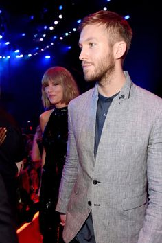 Taylor Swift with Calvin Harris at the 2016 iHeartRadio Music Awards on April 03, 2016.