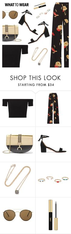 """What to Wear"" by dressedbyrose ❤ liked on Polyvore featuring Michael Kors, Etro, Lanvin, Aquazzura, Pomellato, Alison Lou, Ray-Ban, Yves Saint Laurent, WhatToWear and polyvoreeditorial"