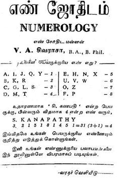 Tamil Numerology  The system of numerology is a method of divination.