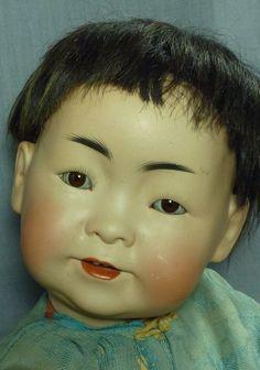 J.D. Kestner 243 Oriental Baby from fireweedgallery on Ruby Lane