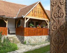 Image result for székely tornácos ház Cottages, Exterior, Houses, Cabin, House Styles, Modern, Home Decor, Homes, Trendy Tree