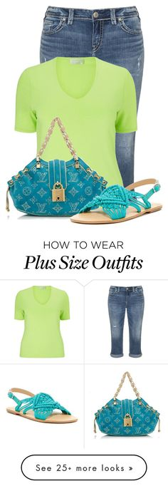 """""""Untitled #18094"""" by nanette-253 on Polyvore featuring Silver Jeans Co., Windsmoor, Louis Vuitton and Latigo"""