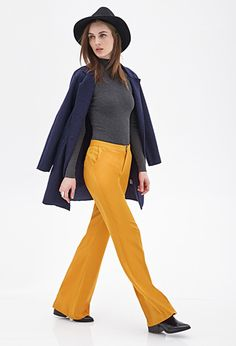 Wide-Leg Woven Trousers   FOREVER 21 - 2000100236