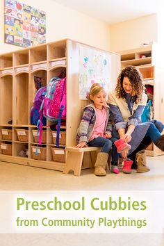 Welcome children to school each day with an organized, inviting space for their personal belongings. Plenty of room for jackets, totes or baskets to keep things organized, and even a convenient mail slot—all sized perfectly for preschoolers. Available in both standard or compact design. Tap through to see the details and buying options. Classroom Layout, Classroom Setting, Classroom Decor, Preschool Cubbies, Preschool Classroom, Soothing Colors, High Quality Furniture, Getting Organized, Layout Design
