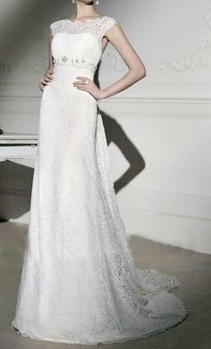 Ivory Lace Wedding  Dress,Bridal Wedding Dress,Ivory Wedding Dress $475
