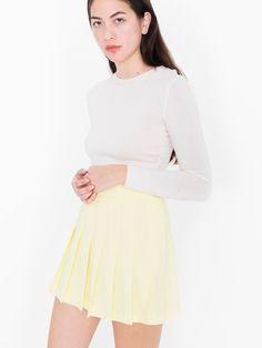 American Apparel Tennis Skirt Citron