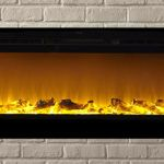 The Touchstone& 60 inch Recessed Electric Fireplace with Heat in Black Mounted Fireplace, Fireplace Logs, Fireplaces, Fireplace Ideas, Recessed Electric Fireplace, Best Electric Fireplace, Real Fire, Professional Cleaners, Traditional Fireplace