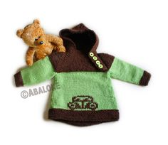 Oslo anorakk i alpakka Baby Barn, Oslo, Ravelry, Knitting Patterns, Gloves, Teddy Bear, Mini, Animals, Animaux
