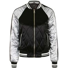 TopShop Quilted Bomber Jacket (5.575 RUB) via Polyvore featuring outerwear, jackets, topshop, bomber jacket, topshop jacket, flight jacket и utility jacket