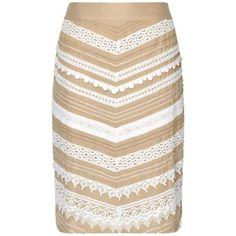 Phase Eight Inez Lace Chevron Skirt- at Debenhams.com