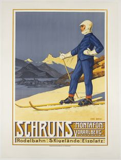 Schruns Montafon Vorarlberg by Bertle, Hans Winter Fun, Winter Sports, Vintage Ski Posters, Nordic Skiing, Vintage Graphic Design, Retro Illustration, Poster On, Poster Wall, Sports Posters