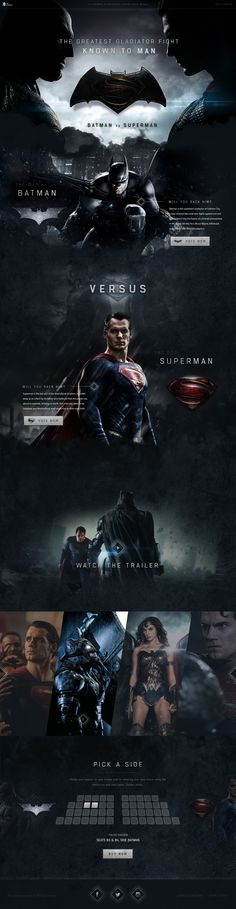Batman vs Superman Website Concept by Green Chameleon
