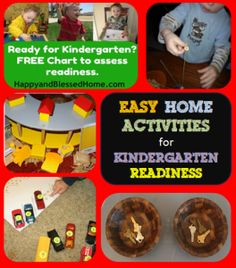Easy Home Activities for Kindergarten Readiness #kidsactivities #kindergarten #preschool